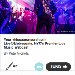 Music video promotion featured in Live@MetroSonic Rocket Hub campaign !