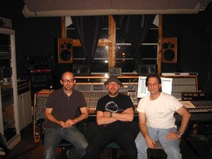 Pete with Moby at MetroSonic Recording Studios NYC