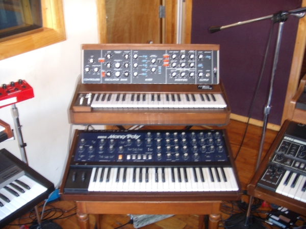 Moog Minimoog and Korg Mono/Poly