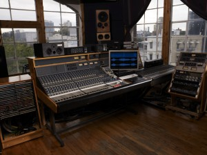 MetroSonic Recording Studio's main desk vintage Neve 5315