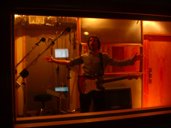 Flight of the Concords' Bret McKinsey in the MetroSonic vocal booth
