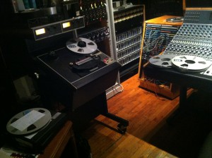 Master tapes for Matte Black's all analog project with Ampex 102
