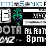 Poster for Feb 7th live@metrosonic