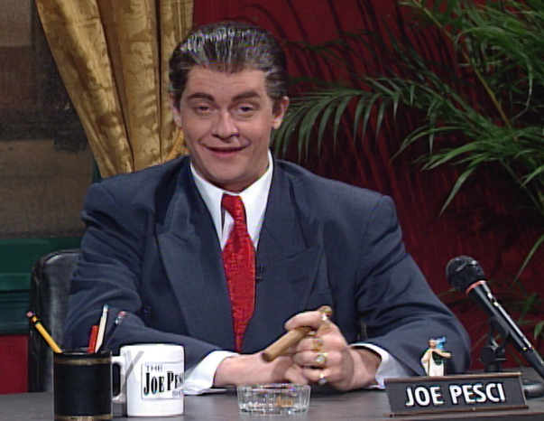Jim as Joe Pesci on the Joe Pesci Show