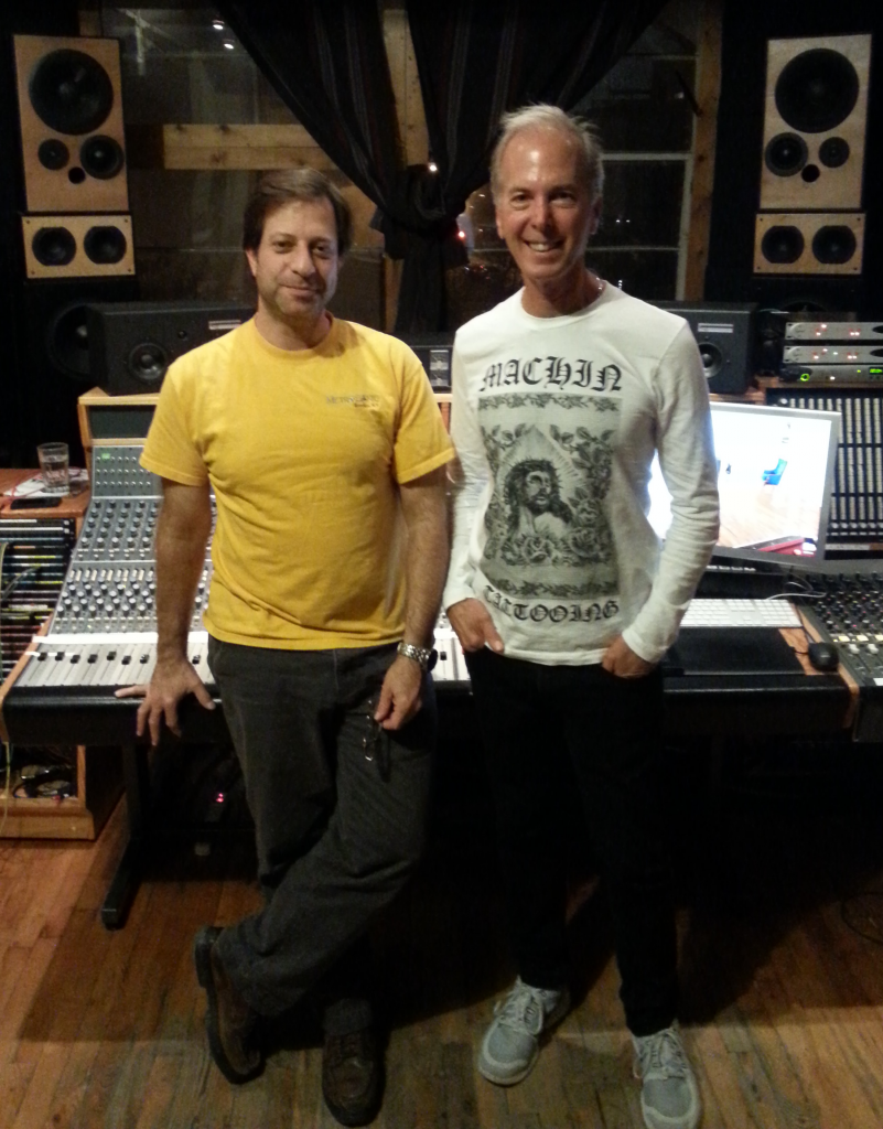 Pete and Michael on the final night of Mixing.