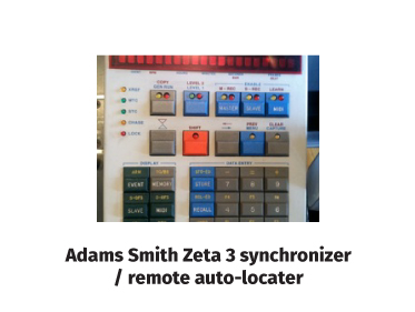 Adams Smith Zeta 3 synchronizer/remote auto-locator