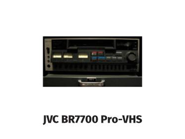 JVC BR7700 Pro-VHS