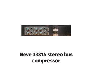 neve 33314 stereo bus compressor